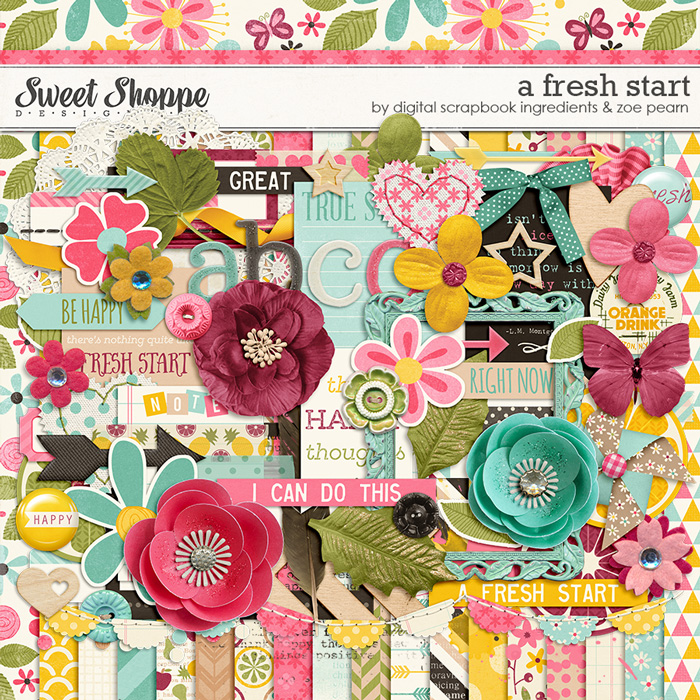 A Fresh Start by Digital Scrapbook Ingredients & Zoe Pearn