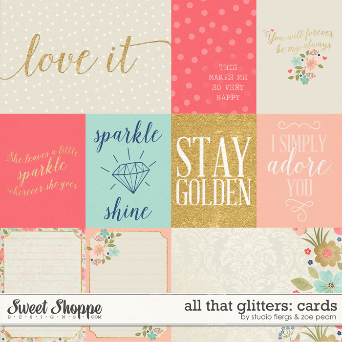All That Glitters: Journal Cards by Studio Flergs & Zoe Pearn