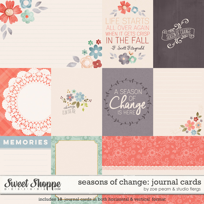 Seasons Of Change: CARDS by Zoe Pearn & Studio Flergs