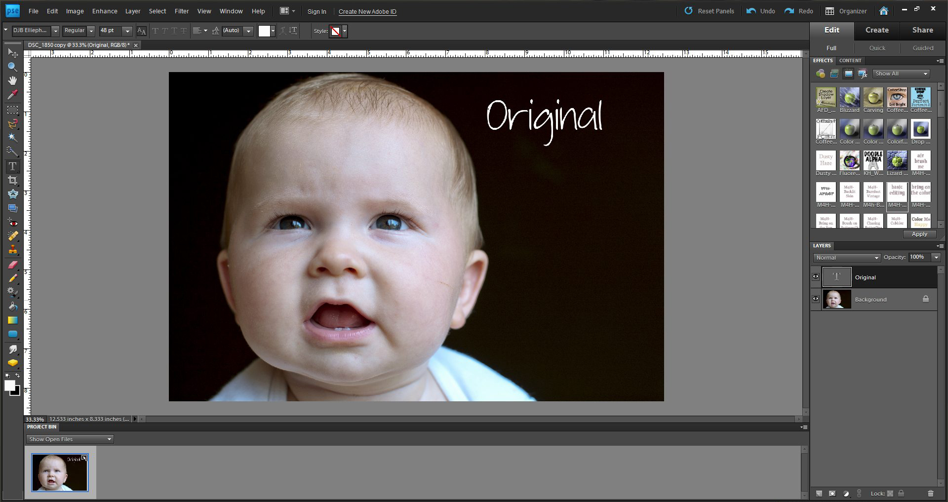 How to fix color cast in photoshop elements - First