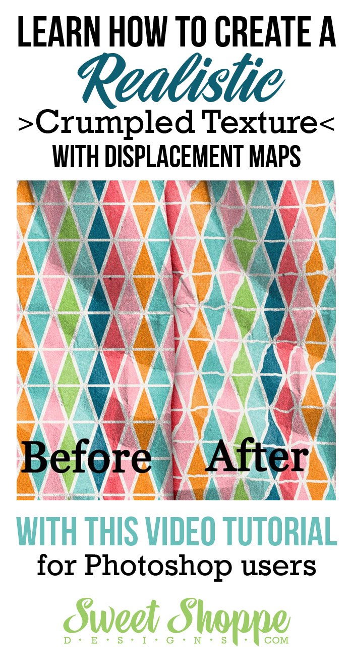 Tutorials by sweet shoppe designs creating realistic crumpled tips for adding a little extra to your pages using displacement maps baditri Image collections