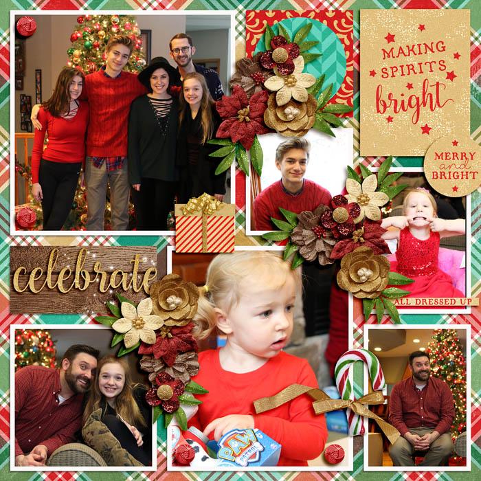 amazing year december 2 by tinci designs; celebrating christmas festive by digital scrapbook ingredients;