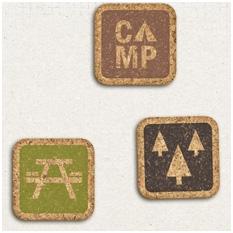 Campfire Friends: Cork Stickers by Jenn Barrette