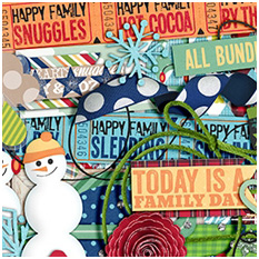 A Happy Family Bundled Up by Traci Reed and Shawna Clingerman