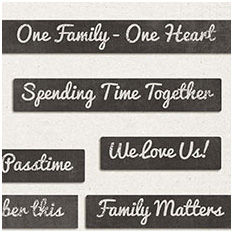 About Our Family - Word Bits by Jady Day Studio
