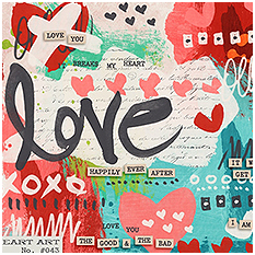 Heart Art Love You to Pieces by Sugarplum Paperie