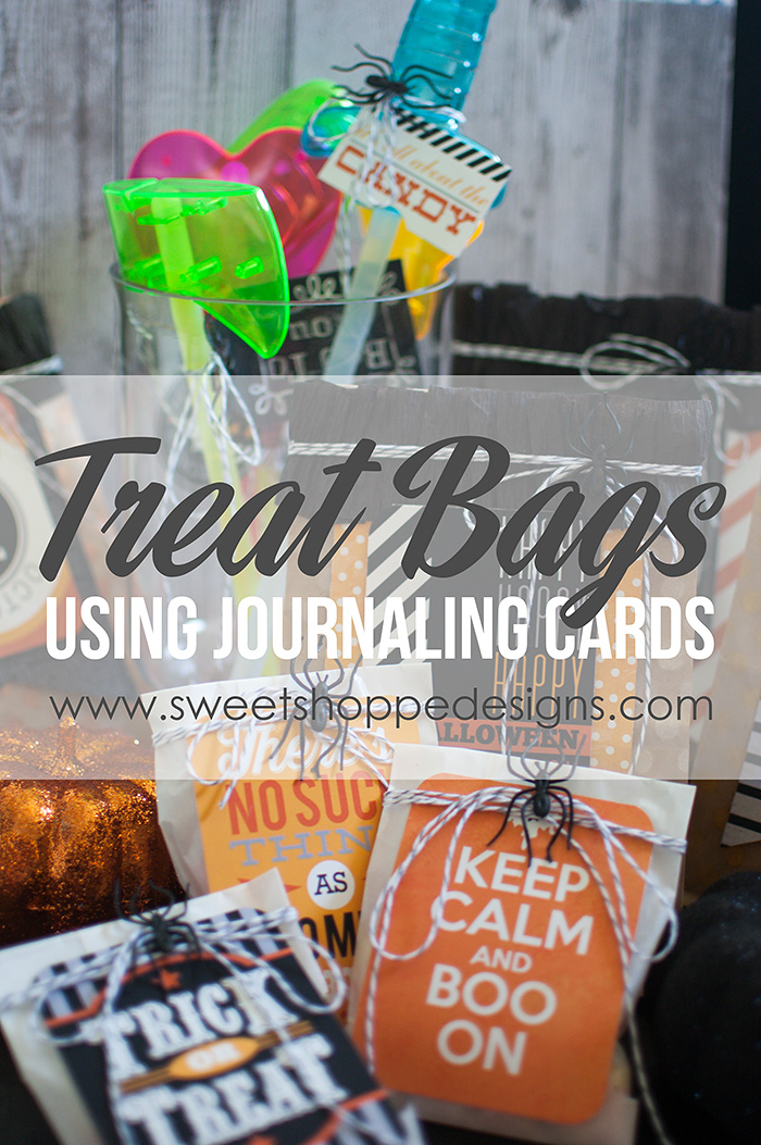 Treat Bags using Journaling Cards