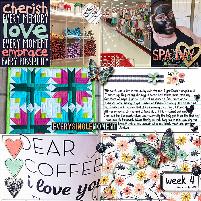Project Life 2015 - Week 4a by Tanyia Deskins