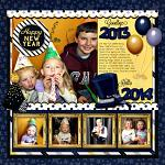 Layout by Michelle using Countdown to Midnight by lliella designs