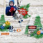 Layout by Judie using Snow Rush by lliella designs