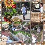 Layout by Rebecca using At The Petting Zoo by lliella designs