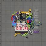 Digital Scrapbook Layout by Kim