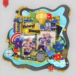 Digital Scrapbook Layout by Wendy