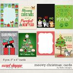 Meowy Christmas Cards by lliella designs