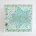 Hybrid card by Andrea, using Baby Boy by lliella designs