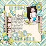 Layout by Heather, using Baby Boy by lliella designs