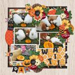 Layout by Martina using Meowy Howl-o-ween by lliella designs