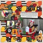 Layout by Jill using Meowy Howl-o-ween by lliella designs