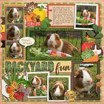 Layout by Jill using Little Pets Guinea Pig by lliella designs
