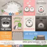 Little Pets Hedgie Cards by lliella designs