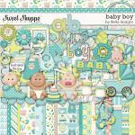 Baby Boy, digital scrapbooking kit by lliella designs