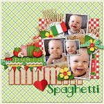Digital scrapbooking layout by Lydia using Buon Appetito kit by lliella designs