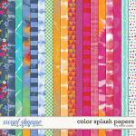 Color Splash Patterned Papers