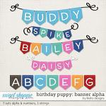 Birthday Puppy Banner Alphas by lliella designs