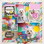 Layout by Krista using Birthday Puppy by lliella designs