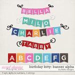 Birthday Kitty Banner Alphas by lliella designs