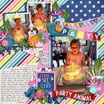 Layout by Ally using Birthday Puppy by lliella designs