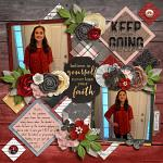 Layout by Kendall using Keep the Faith by lliella designs