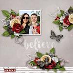 Layout by Kim using Keep the Faith by lliella designs