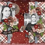 Layout by Mary using Keep the Faith by lliella designs