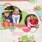 Beautiful Hope Layout by Jacinda