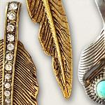 Metal Feathers by lliella designs