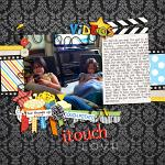 Digital scrapbooking layout by Laura using Couch Potato kit by lliella designs