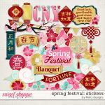 Spring Festival Stickers by lliella designs