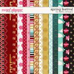 Spring Festival Papers by lliella designs