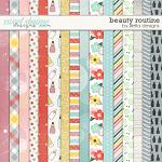 Beauty Routine Papers by lliella designs