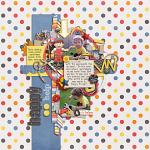 Digital scrapbooking layout by Lizzy using Handy Helpers kit by lliella designs