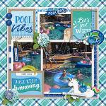 Layout by Krista using A Pool Day by lliella designs