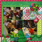 Digital scrapbooking layout by Rebecca using Holiday Hoopla kit by lliella designs