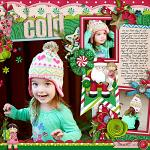 Digital scrapbooking layout by Brook using Holiday Hoopla kit by lliella designs