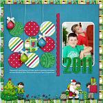 Digital scrapbooking layout by Jacinda using Holiday Hoopla kit by lliella designs