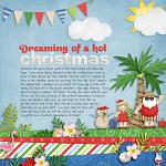 A digital scrapbooking layout by Jacinda using Sunny Holidays by lliella designs