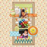 Digital scrapbooking layout by Allie using Hoppin' Easter Kit by lliella designs