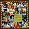 Digital scrapbooking layout by Brook using Ho Ho Ho Kit by lliella designs