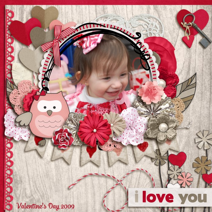 Digital scrapbooking layout byErin using Owl For Love Kit by lliella designs