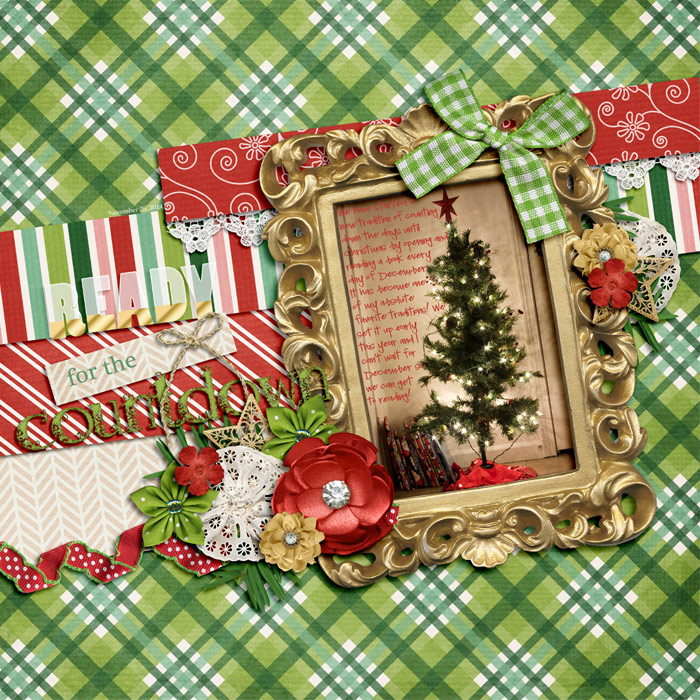 Digital scrapbooking layout by Adrienne using Santa is Coming to Town Kit by lliella designs